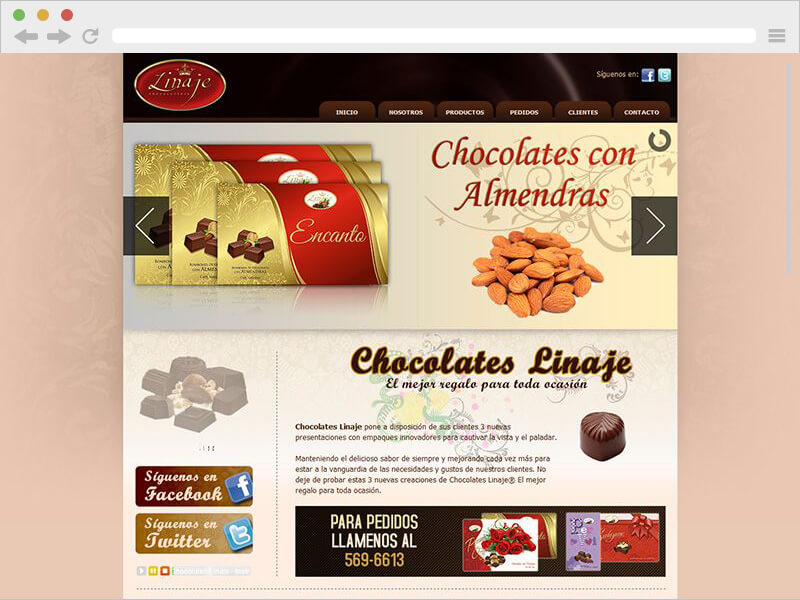 CHOCOLATES LINAJE