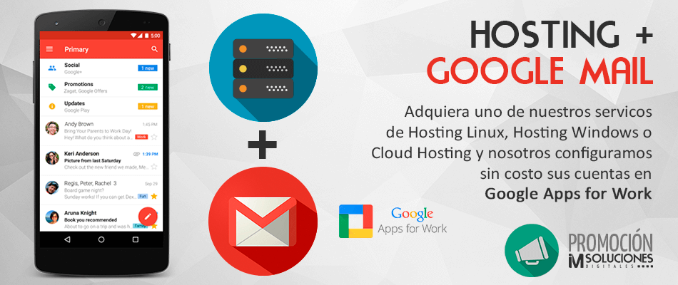 Hosting y Gmail